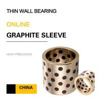 Buy cheap Thin Wall Copper Bearing With Graphite Self Lube Bronze Components For Press Dies product