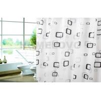 Buy cheap Custom Printed waterproof Plastic Shower Curtain / hotel extra long shower curtains product