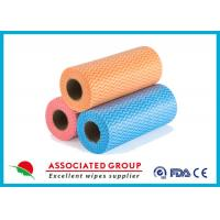 China Yellow Red Blue Wavy Line Printed Non Woven Roll for Agriculture , Bag Use on sale