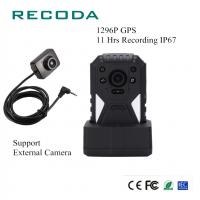 Buy cheap IP67 GPS Police Body Worn Camera 1296P 11 Hrs Recording 140 Degree Lens Angle product
