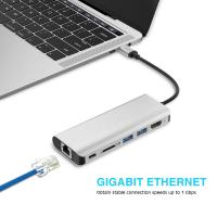 Buy cheap New Products 2018 Usb Ethernet Adapter Hub For Macbook Pro Usb C Hub Thunderbolt 3 Usb-C Adapter product