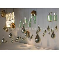 Buy cheap Electroplated Item Mirror Silver Fiberglass Water Drop Statues Customized Decorations product