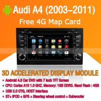 Buy cheap Audi A4 2003-2011 Android Auto Radio DVD Player with GPS Navigation Wifi 3G Digital TV RDS CAN Bus product