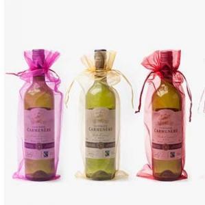 China wine bottle plain organza wine pouch bag Christmas/wedding gift bag wholesale on sale
