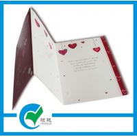 Buy cheap C2S Art Paper Musical Recording Greeting Card Stock Paper With Lighting Printing Services product