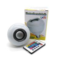 Buy cheap Wireless Bluetooth 6W LED Speaker Bulb Audio E27 Colorful Music Playing Lighting With 24 Keys IR Remote Controller product