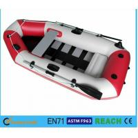 Buy cheap White And Red Inflatable Drift Boat , Water Inflatable Fishing Boats Electronically Welded Seams product