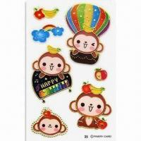 Buy cheap Stickers, Suitable for Promotional and Gift Purposes, Available in Various Shapes product