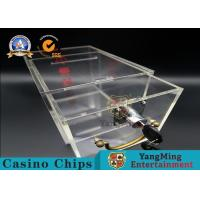 Buy cheap Acrylic Clear Security Box / Playing Cards Discard Holder With Lock And Key product
