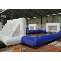 Buy cheap 12 x 6M Blue Inflatable Football Field Sports Games With CE Blower from Wholesalers