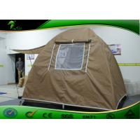 China Folding Canopy Tent , Khaki Outdoor Traveling Waterproof Camping Tent on sale
