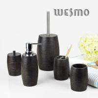 China 5 Piece Wood Classic Complete Bathroom Sets for Home Decoration on sale