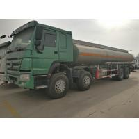Buy cheap Four Axles Fuel Tanker Truck SINOTRUK HOWO 30 - 40 Tons For Oil Transportation product