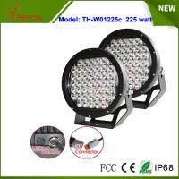 Buy cheap Black 10 inch 225W spotlights round LED spot driving lights upgraded 5w CREE XPG grade product