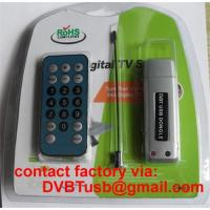 China USB DVB-T Receiver Mini Digital TV Sticker DVBT  USB Dongle on sale