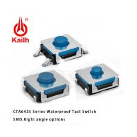 China 6x6mm Sealed Ruber SMT Tactile Switch IP67 Protection on sale