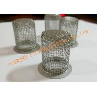 Buy cheap Perforated SS304 / SS316 Sieve Mesh Filter Cover Cap OD30X100mm from Wholesalers