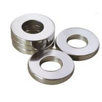 Buy cheap Professional Ring Shaped Magnet / Ring Permanent Magnet Silver Coating product