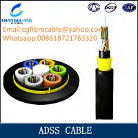 Buy cheap High quality ADSS aerial all dielectrical optical fiber cable manufacturer from Wholesalers