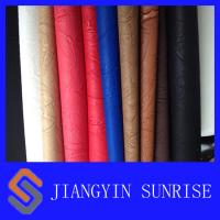 Buy cheap Anti - Yellowing Embossed Pattern PU Synthetic Leather / PU Polyurethane Leather product