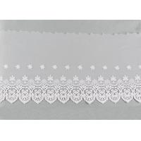 Embroidered Nylon Dying Lace Fabric Bilateral Symmetry Lace For Wedding Dresses
