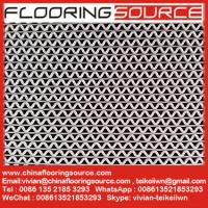 PVC wave design heavy duty wet area floor matting rolls without backing drainage matting