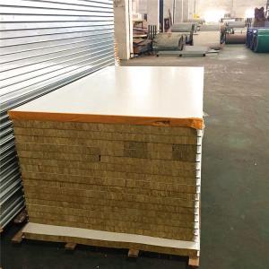 Buy cheap 0.326mm steel sheet fireproof rock wool sandwich panel 5950 x 1150 x 50mm product