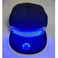 Buy cheap wholesale advertising LED gift rechargeable LED message cap  for promotional LED  Light up bluetooth hat setup by phone product