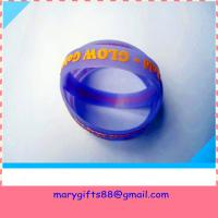 Buy cheap glow in dark embossed silicone bracelet product