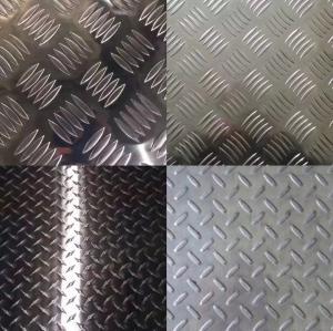 Buy cheap 3003 H32 4X8 Aluminum Diamond Tread Sheet Bright Finish For Trailer Floor / Car / Stair product