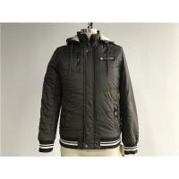 Buy cheap Chocolate Textured Bomber Puffer Jacket Detachable Hood For Menswear Tw58230 product