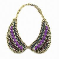 Buy cheap Multi-color glass chuncky collar statement necklace product