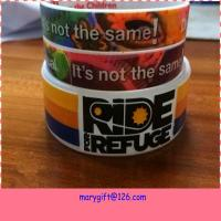 Buy cheap new design wide hot silicone bracelet band with CMYK printing product