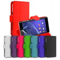 Buy cheap Shockproof Leather Stand Wallet Flip Sony Ericsson Phone Case , Sony Xperia Z2 Cover product