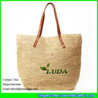 Buy cheap LUDA costomized wholesale handbags hand crochetting raffia straw totes product