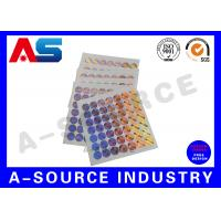 Buy cheap Holographic Sticker Printing , Custom Holographic Stickers For Chemical Box product
