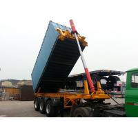 Buy cheap Steel 20ft Skeleton Tipper Semi Trailer / Flatbed Tri Axle Container Chassis product