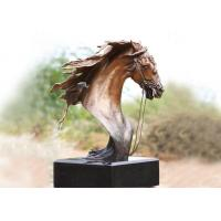 Buy cheap Handmade Forging Bronze Ferghana Horse Head Garden Statue For Public Decoration product