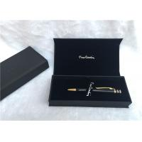 Solid Wood Packaging Pen Gift Boxes Promotional With Black Color , SGS Listed