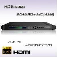 Buy cheap SD/HD-SDI TO ASI&IP Eight-Channel MPEG-4 AVC/H.264 HD IPTV System Encoder REH2208 product