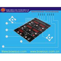 Buy cheap PVC Flat Push Button Membrane Switch Panel Overlay Security Keypads product