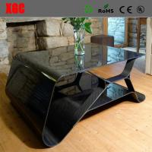 Buy cheap Black Color Art Design Carbon Fiber Home Furniture Coffee Table Luxury Bestro Tea Table product