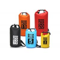 China Outdoor PVC Waterproof Dry Bag Silk Screen Printed , 30l Dry Bags For Sale on sale