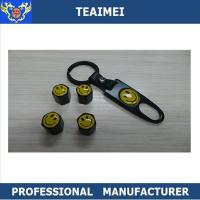 China Customized 4Pcs / Set Car Smile Logo Metal Alloy Center Caps for Rims With Keychain on sale