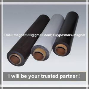 Promotional rubber magnet composite permanent strong rubber rolls magnet/flexible fridge magnet sheet
