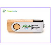 Quality Storage Logo Printing wooden pen drive , small 16gb usb 2.0 flash drive high speed for sale