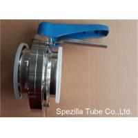 Buy cheap A270 Sanitary Valves And Fittings Stainless Steel Plastic Handle Tri Clamp Butterfly Valve product