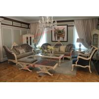 Buy cheap French-type Furniture made by Wooden Carving Frame with Upholstery Sofa Set product