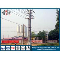 Zinc Coated 69 KV Transmission Line Tubular Steel Poles With ISO Certificate