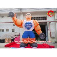 Buy cheap Printing Inflatable Cartoon Characters , Trade Show Inflatable Muscle Man product